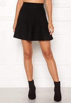 ONLY New Dallas Skirt Black Bubbleroom.no