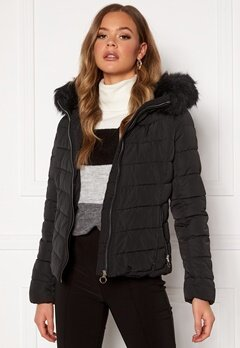 ONLY New Ellan Quilted Jacket Black Bubbleroom.no