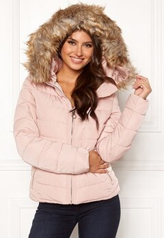 ONLY New Ellan Quilted Jacket Rose Dust Bubbleroom.no