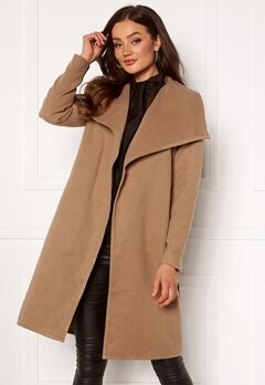 ONLY New Phoebe Drapy Coat Camel Bubbleroom.no