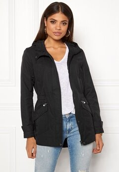 ONLY New Sophia Spring Parka Black Bubbleroom.no 7bc4b79a8481c
