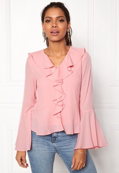 ONLY Nix L/S Top Rose Shadow Bubbleroom.no