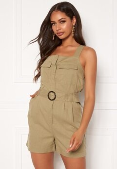 ONLY Noreen-Bibs Playsuit Martini Olive Bubbleroom.no