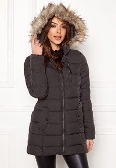 ONLY North Nylon Coat Black Bubbleroom.no