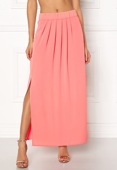 ONLY Nova Lux Maxi Skirt Solid Strawberry Ice Bubbleroom.no