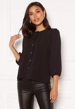 ONLY Nova Lux Puff Sleeve Top Black Bubbleroom.no