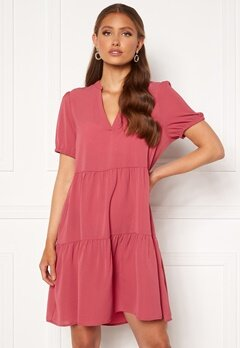 ONLY Nova Lux S/S Thea Dress Solid Baroque Rose<br>  Bubbleroom.no