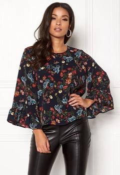 ONLY Nova Lux Wide Sleeve Top Night Sky Bubbleroom.no