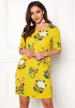 ONLY Nova Tee Dress Yellow Bubbleroom.no