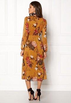 ONLY Oda L/S Maxi Dress Peat Bubbleroom.no