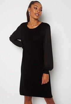 ONLY Ofelia L/S Dress Knit Black Bubbleroom.no