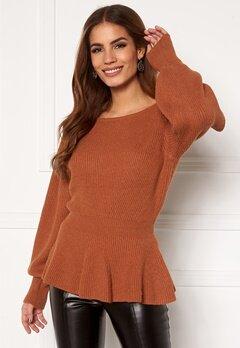 ONLY Olina L/S Pullover Ginger Bread Melange Bubbleroom.no
