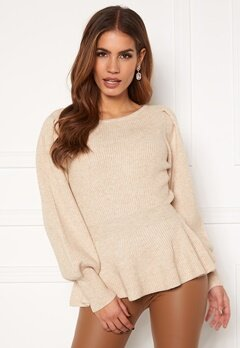 ONLY Olina L/S Pullover Pumice Stone Melange Bubbleroom.no