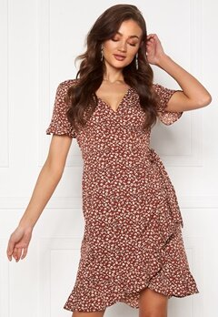 ONLY Olivia S/S Wrap Dress Henna Bubbleroom.no