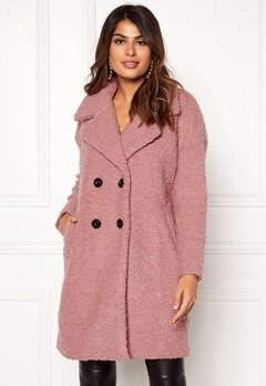 ONLY Paloma Boucle Wool Coat Baroque Rose Bubbleroom.no