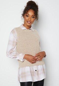 ONLY Paris Life Vest Knit Pumice Stone bubbleroom.no