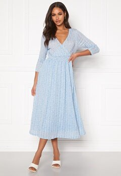 ONLY Pella 3/4 AOP Dress Cashmere Blue Bubbleroom.no