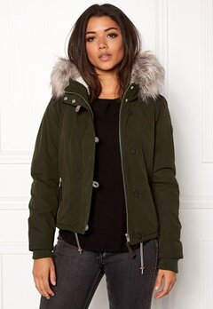 ONLY Peyton short fur parka Peat Bubbleroom.no