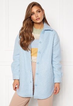 ONLY Piper Shacket Cashmere Blue Bubbleroom.no
