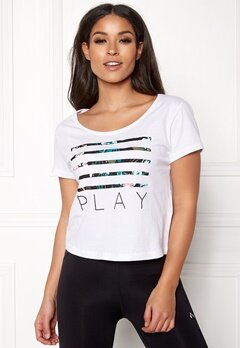 ONLY PLAY Blossom Short SS Top White Bubbleroom.no