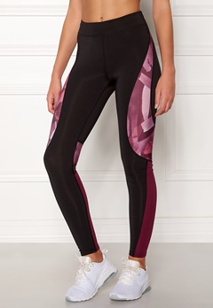 ONLY PLAY Dayo AOP Run Tights Black/Rhododendron Bubbleroom.no