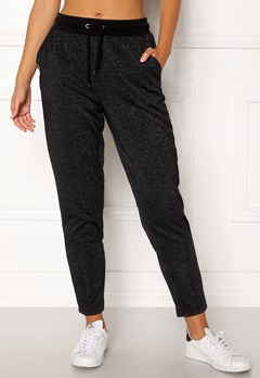 ONLY PLAY Zira Glitter Sweat Pants Black Bubbleroom.no