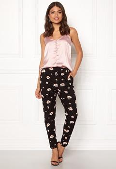 ONLY Poptrash Carnation Pant Black/Flower Print Bubbleroom.no