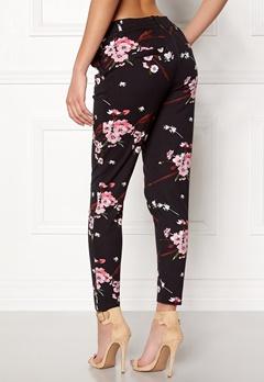 ONLY Poptrash Easy Print Pant Black/Flower Bubbleroom.no