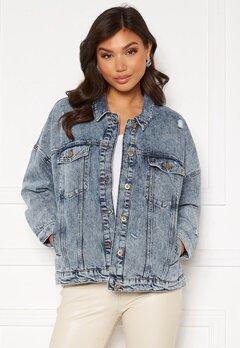 ONLY Safe Life LS Oversize Jacket Medium Blue Denim Bubbleroom.no