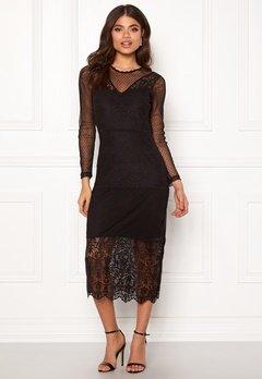 ONLY Sam L/S Lace Dress Black Bubbleroom.no