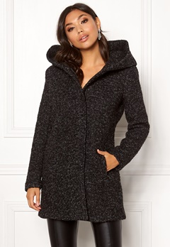 ONLY Sedona Boucle Wool Coat Black Bubbleroom.no