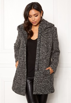 ONLY Sedona Boucle Wool Coat Dark Grey Melange Bubbleroom.no