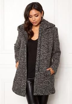ONLY Sedona Boucle Wool Coat Dark Grey Melange Bubbleroom.no