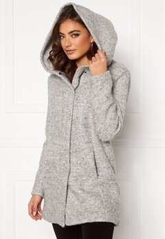 ONLY Sedona Boucle Wool Coat Light Grey Melange Bubbleroom.no