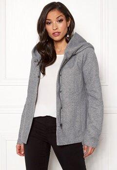 ONLY Sedona Short Jacket Light Grey Melange Bubbleroom.no