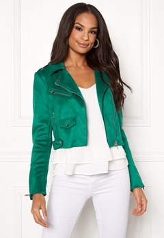 ONLY Sherry Cropped Biker Cadmium Green Bubbleroom.no