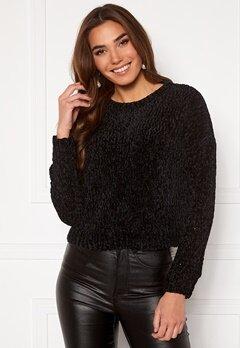 ONLY Shilla L/S Pullover Knit Black Bubbleroom.no