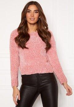ONLY Shilla L/S Pullover Knit Blush Bubbleroom.no