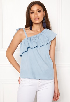 ONLY Sia One Shoulder Top Cerulean Bubbleroom.no