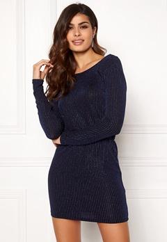 ONLY Sigga Lurex Dress Black/Blue Lurex Bubbleroom.no