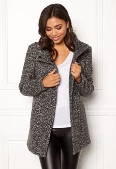 ONLY Sophia Boucle Wool Coat Dark Grey Melange Bubbleroom.no