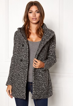 ONLY Sophia Noma Wool Coat Dark Grey Melange Bubbleroom.no