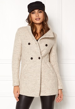 ONLY Sophia Noma Wool Coat Simply Taupe Bubbleroom.no