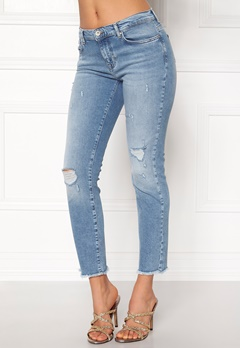 ONLY Sui Reg Ankle Jeans Light Blue Denim Bubbleroom.no