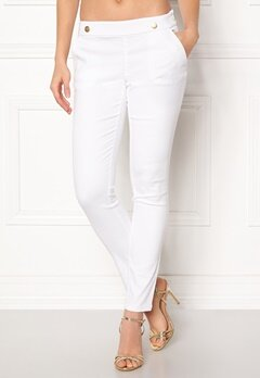 Jacqueline de Yong Tara Button Pant White Bubbleroom.no