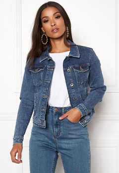 ONLY Tia Denim Jacket Medium Blue Denim Bubbleroom.no