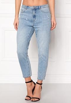 ONLY Tonni BF Destroy Jeans Medium Blue Denim Bubbleroom.no