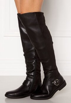 ONLY Tyra-5 PU Long Shaft Boot Black Bubbleroom.no