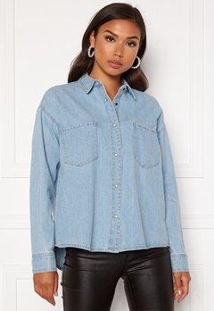 ONLY Unit Life Oversize Shirt Light Blue Denim Bubbleroom.no