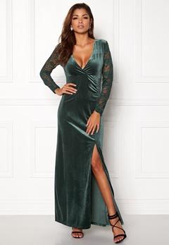 ONLY Valerie L/S Maxi Dress Rain Forest Bubbleroom.no